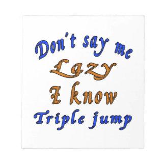 Triple jump Designs Notepads