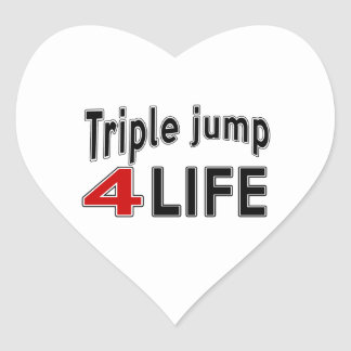 Triple jump.For Life Heart Sticker