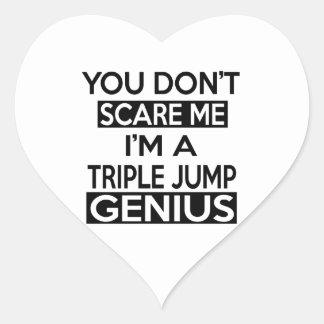 TRIPLE JUMP GENIUS DESIGNS HEART STICKER