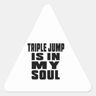 TRIPLE JUMP IS IN MY SOUL TRIANGLE STICKER