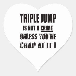 Triple Jump is not a crime Heart Sticker
