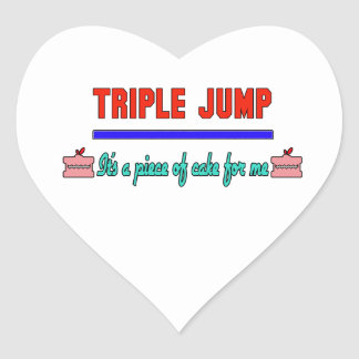 Triple Jump It's a piece of cake for me Heart Sticker