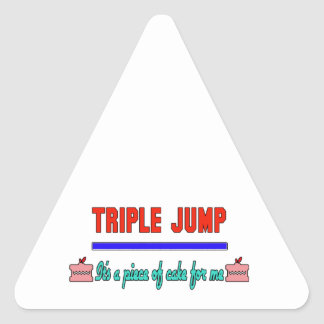 Triple Jump It's a piece of cake for me Triangle Sticker