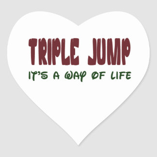 Triple Jump It's a way of life Heart Sticker