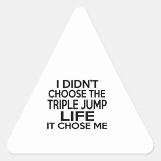 TRIPLE JUMP LIFE DESIGNS TRIANGLE STICKER