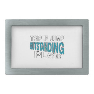 TRIPLE JUMP OUTSTANDING PLAYER RECTANGULAR BELT BUCKLE