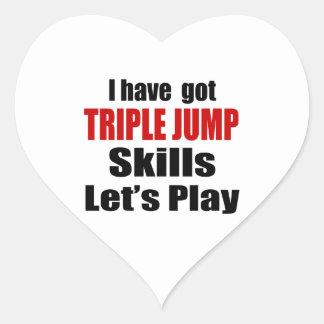 TRIPLE JUMP SKILLS DESIGNS HEART STICKER