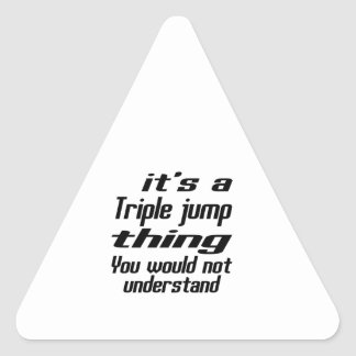 Triple jump Thing Designs Triangle Sticker