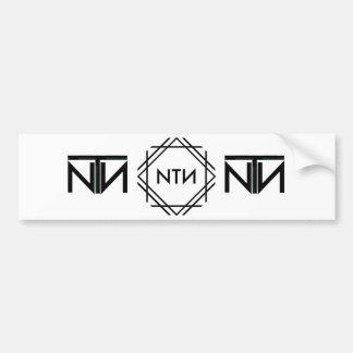 Triple Logo Bumper Sticker
