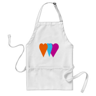 Triple Love Heart Adult Apron