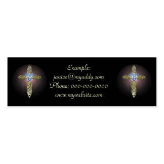 Triple Lunar Celtic Cross Profile Cards Business Cards
