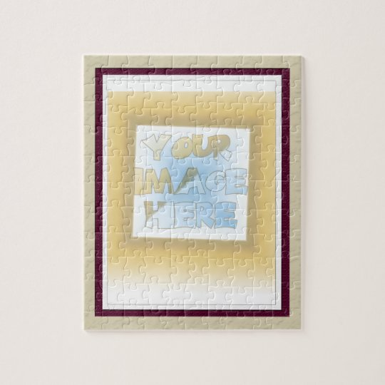 Triple Matte: Buff, Maroon and White Jigsaw Puzzle