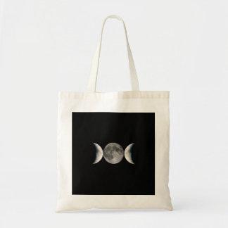 triple moon canvas bag
