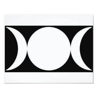 triple moon black background card