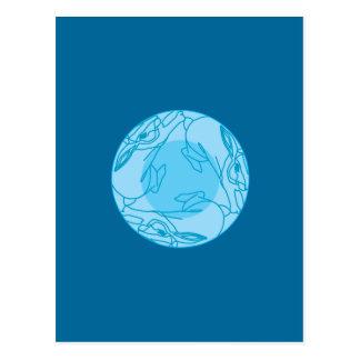 Triple Moon Bunneh Postcard