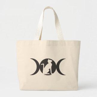 Triple Moon Cat Large Tote Bag
