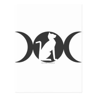 Triple Moon Cat Postcard