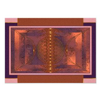 Triple Moon Fractal Art Card