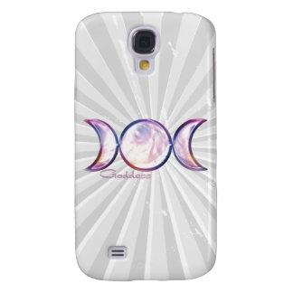 triple moon goddess iridescent pearl galaxy s4 case