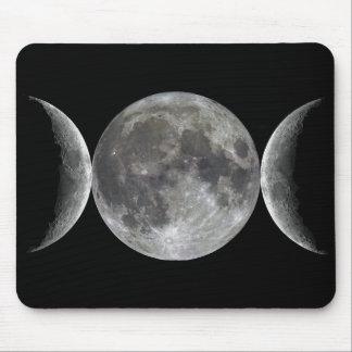 Triple Moon Goddess Mouse Pad
