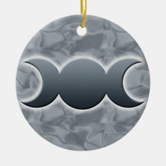 Triple Moon Goddess Ornament