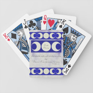 Triple Moon Goddess Pagan Blessings Misty Bg Bicycle Playing Cards