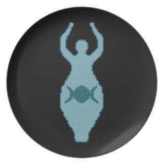 Triple Moon Goddess Plate