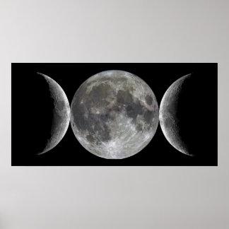 Triple Moon Goddess Poster