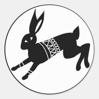 Triple Moon Hare Classic Round Sticker