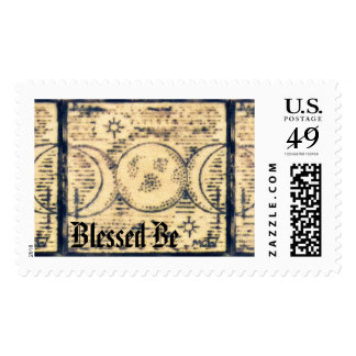 Triple Moon Illust. Prim Old World Style Stamps