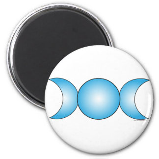 Triple Moon - light blue gradient 2 Inch Round Magnet