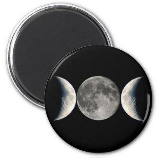 triple moon refrigerator magnets