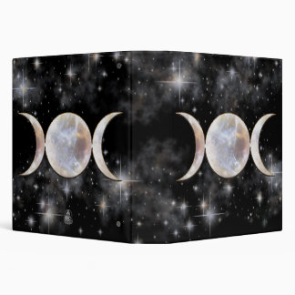 Triple Moon Moonstone 3 Ring Binder