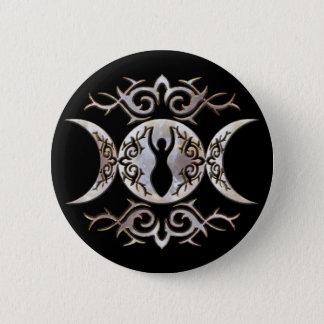 Triple Moon Moonstone Button