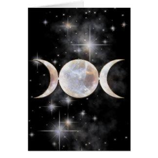 Triple Moon Moonstone Card