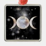 Triple Moon Moonstone Christmas Tree Ornaments