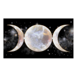 Triple Moon Moonstone Double-Sided Standard Business Cards (Pack Of 100)