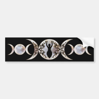 Triple Moon Moonstone Goddess Bumper Sticker