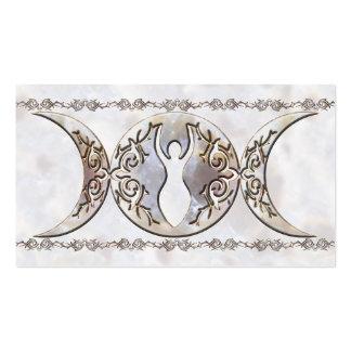 Triple Moon Moonstone Goddess Business Cards