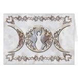 Triple Moon Moonstone Goddess Greeting Cards