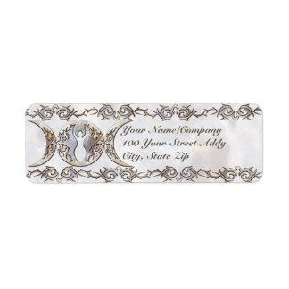Triple Moon Moonstone Goddess Label