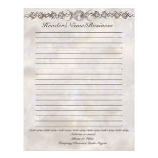 Triple Moon Moonstone Goddess Lined Letterhead