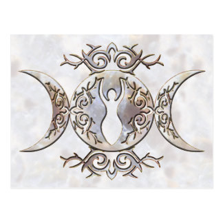 Triple Moon Moonstone Goddess Postcard