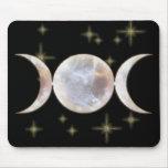 Triple Moon Moonstone Mouse Pad