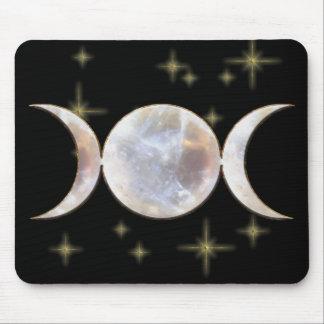 Triple Moon Moonstone Mousepads