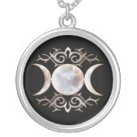 Triple Moon Moonstone Necklace