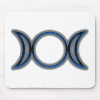 Triple Moon new age symbol Mouse Pads