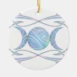 Triple Moon Opal Goddess Ornament