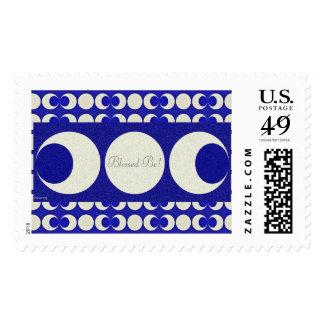Triple Moon Pagan Bleesed Be Stamps