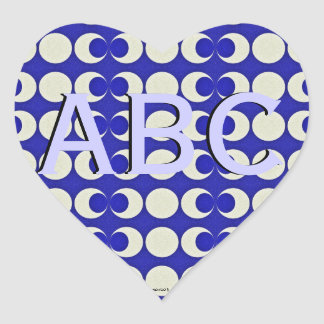 Triple Moon Pagan Monogram Heart Sticker